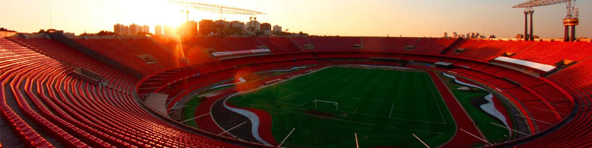 Vista das arquibancadas do Estádio do Morumbi